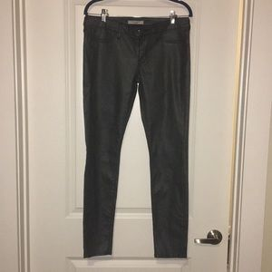 Charcoal Grey Pleather Jeans